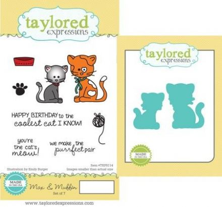 TEPS114 ~ MAX AND MUFFIN - SET OF Stamps with coordinating dies by Taylored Expressions